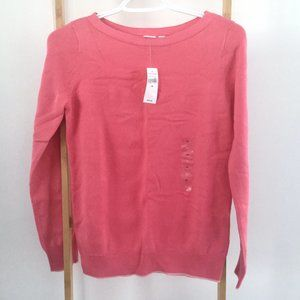 GAP Pink Boat Neck Cotton Sweater
